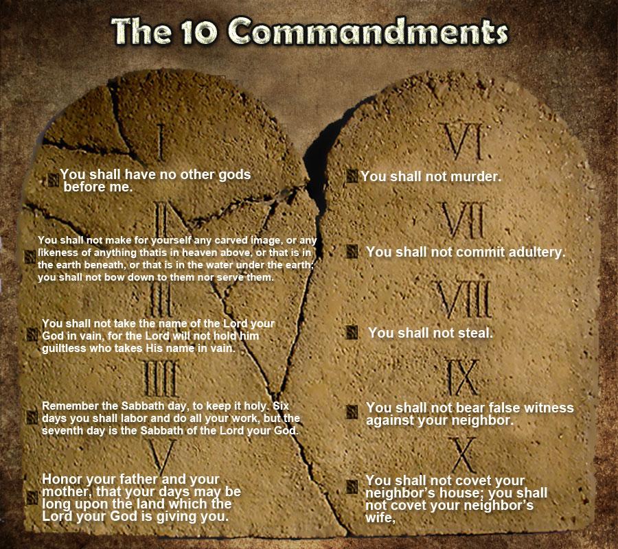 The 10 Commandments Image
